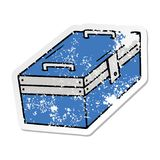 Distressed sticker cartoon doodle of a metal tool box. A creative illustrated distressed sticker cartoon doodle of a metal tool box vector illustration