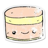 distressed sticker of a Layer 174 stock illustration