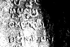 Distressed stone with khmer letters. Vector texture for vintage effect. Black and white splatter Stock Images