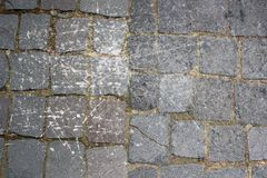 Distressed stone pavement Royalty Free Stock Images