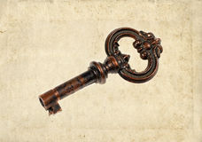 Distressed vintage key Stock Photography