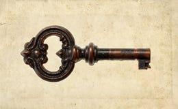 Distressed vintage key Stock Photos