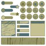Distressed web elements Royalty Free Stock Image