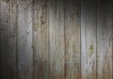 Distressed wooden background with weathered boards royalty free stock photos