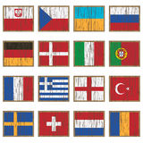 Distressed wooden flags Stock Image