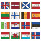 Distressed wooden flags Royalty Free Stock Photo