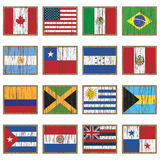 Distressed wooden flags stock illustration