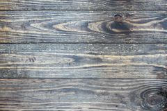 Distressed dark wooden texture backdrop. Distressed wooden texture background / backdrop. Image shot from top in overhead view royalty free stock photo