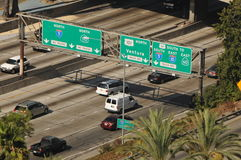 Distretto aziendale del centro di Los Angeles Fotografia Stock