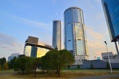 Distretto aziendale della città di Ekaterinburg Immagini Stock