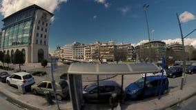 Distretto aziendale di Atene stock footage