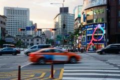 Distretto aziendale di Seoul, Corea del Sud Fotografia Stock Libera da Diritti