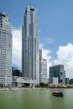 Distretto aziendale di Singapore Fotografie Stock
