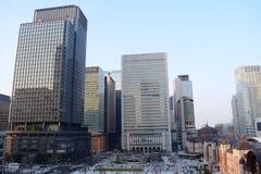 Distretto aziendale finanziario della stazione del Giappone Tokyo Fotografia Stock Libera da Diritti