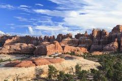 Distretto degli aghi del parco nazionale di Canyonlands Fotografie Stock
