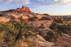 Distretto degli aghi del parco nazionale di Canyonlands Fotografia Stock
