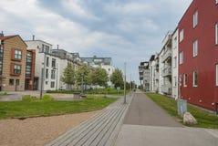 Distretto degli alloggi nuovi a Malmo Svezia Immagine Stock