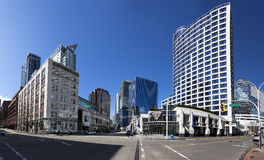 Distretto del centro di lungomare di Vancouver fotografie stock libere da diritti