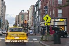 Distretto del centro di Portland, Maine, U.S.A. Fotografia Stock