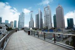 Distretto del centro finanziario di Schang-Hai fotografie stock libere da diritti