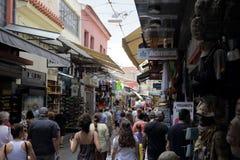 Distretto del mercato delle pulci di Atene, Grecia Immagini Stock