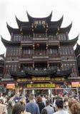 Distretto del nearg di commercio il tempio di Dio della città, Shanghai fotografia stock libera da diritti