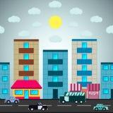 Distretto della città royalty illustrazione gratis
