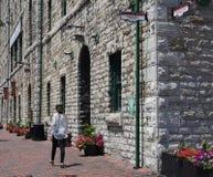 Distretto della distilleria di Toronto fotografie stock libere da diritti