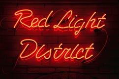 Distretto della luce rossa fotografia stock