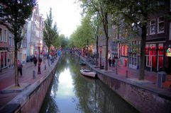 Distretto della luce rossa a Amsterdam Immagini Stock Libere da Diritti