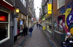 Distretto della luce rossa di Amsterdam Fotografie Stock Libere da Diritti