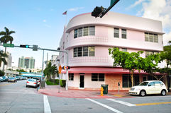 Distretto di art deco in Miami Beach, Florida, S.U.A. Immagini Stock