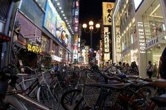 Distretto di Dotombori a Osaka Fotografia Stock