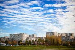 Distretto di Fabijoniskes a Vilnius Fotografie Stock