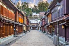 Distretto di Higashichaya di Kanazawa, Giappone fotografie stock libere da diritti
