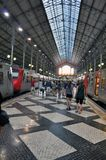 Distretto di Lisbona, stazione ferroviaria Fotografia Stock Libera da Diritti