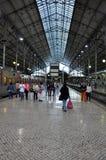 Distretto di Lisbona, stazione ferroviaria Fotografia Stock