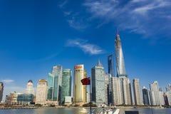 Distretto di Lujiazui a Shanghai, Cina Fotografia Stock Libera da Diritti