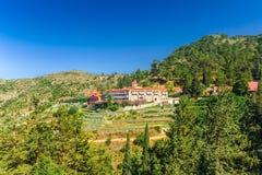 Distretto di Nicosia, CIPRO - 30 maggio 2014: Monastero di Machairas, monastero storico dedicato a vergine Maria fotografia stock libera da diritti