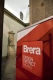Distretto di progettazione di Brera fotografia stock