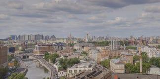 Distretto di Zamoskvorechye nella vista panoramica di Mosca Immagine Stock Libera da Diritti