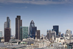 Distretto e del centro finanziari, Londra, Regno Unito Fotografia Stock Libera da Diritti
