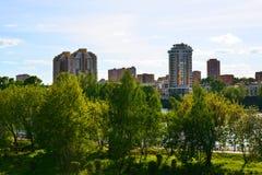 Distretto ecologico in Chimki, Russia di Levoberezhny Fotografie Stock Libere da Diritti