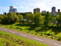 Distretto ecologico in Chimki, Russia di Levoberezhny Fotografie Stock