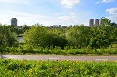 Distretto ecologico di Levoberezhny nella città di Chimki, Russia Fotografia Stock Libera da Diritti