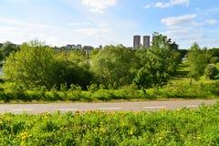Distretto ecologico di Levoberezhny nella città di Chimki, Russia Immagini Stock Libere da Diritti