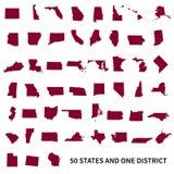 Distretto federale degli Stati Uniti d'America 50 e 1 Metta la o Fotografie Stock