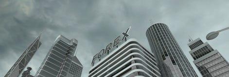 Distretto finanziario Fotografia Stock