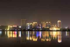 Distretto finanziario (città amoy di vista di notte) Fotografia Stock Libera da Diritti