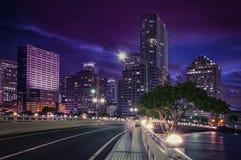 Distretto finanziario del centro Brickell di Miami immagini stock libere da diritti